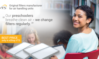 How often should I change the air conditioning filter in school and kindergarten?