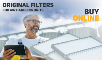 How often should the filters in the air handling unit be replaced?