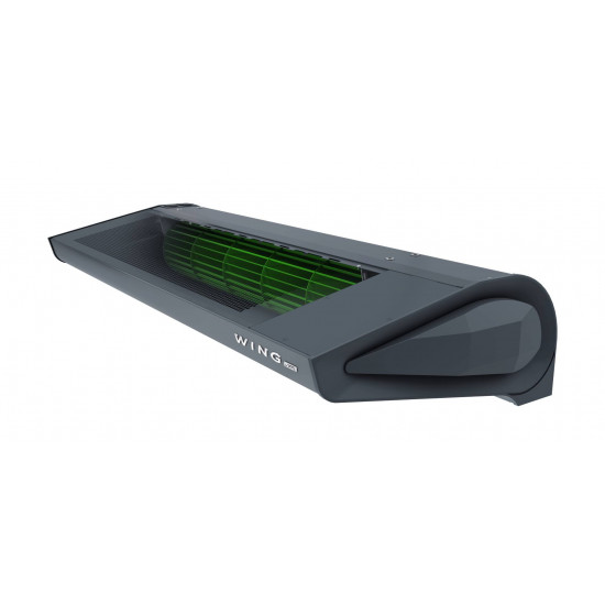 Air Curtain WING E100 EC with electric heaters DARK (RAL7016)