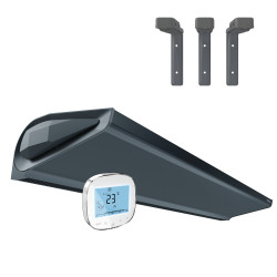 Air Curtain WING E150 EC with electric heaters DARK (RAL7016) + Holder set + Controller