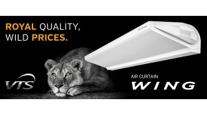 VTS WING Air Curtain – AC motor is now available on our eShop for Indian market!